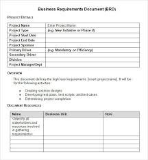 example business requirements document template sample business