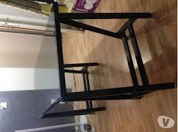 bureau en verre tremp noir bureau plateau tréteaux clasf
