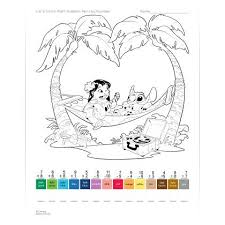 lilo u0026 stitch math problem paint number worksheet disney family
