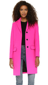 msgm wool coat in pink lyst