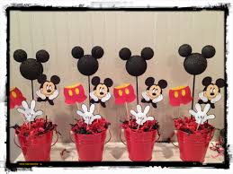 Mickey Mouse Center Pieces Mickey Mouse Birthday Centerpieces Mickey Party Pinterest