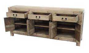 natural reclaimed wood media console cabinet sideboard buffet