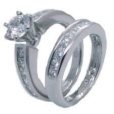 stainless steel wedding rings his hers sterling silver and stainless steel wedding set edwin