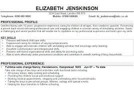nanny resume exles nanny resume exle childcare cv exle1 yralaska