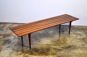 Slat Bench Select Modern Mid Century Modern Slat Bench Or Coffee Table