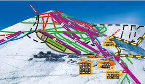Map Of Colorado Ski Resorts Trail Map El Colorado Farellones