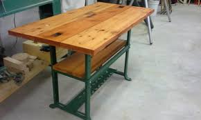 Industrial Looking Desk by Industrial Looking Table From Reclaimed Parts U2013 Flipped To Perfection