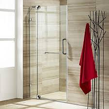 Glass Shower Doors Canada Vigo Clear And Brushed Nickel Frameless Shower Door 42 Inch 3 8