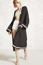 varsity stripe longline kimono forever 21 2000322293