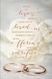 Wedding Bulletin Walk In Love Ephesians 5 2 Regular Wedding Bulletin Broadman
