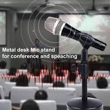 microphone de bureau support de microphone de bureau pliable réglable support de micro