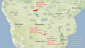 Map Of Southern Africa by Hidden Gems 3 Lesser Known Parks Southern Africa Travel 4 Wildlife