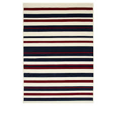 Red White And Blue Rugs Cream Navy Red Stripe Rug Milan Kukoon