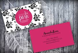 perfectly posh business card black roses floral business card