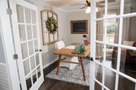 french doors in dining room roman shadesor home office eclectic