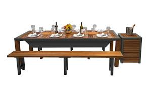 angara maximus dining table with ibbq barbecue tables toysforbigboys