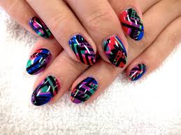 colorful tribal nail art gallery step by step tutorial photos
