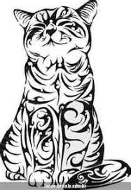 37 best cat face tribal tattoo images on pinterest cat face