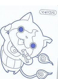 yo kai oni coloring book pages coloring