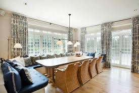 Breakfast Banquette Dining Ozy Hamptons Mansion Estate Home Breakfast Area Informal