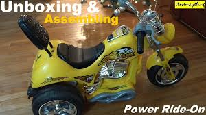 awesome toys power ride on motorcycle for kids unboxing and