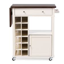 Extra Kitchen Storage by Baxton Studio Justin Modern And Contemporary Cream White Solid