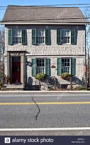 federal style house exterior gray shingle federal style house dating from 1820 with
