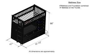 Bedroom Furniture Dimensions by Discovery World Furniture Twin All In One Espresso Loft Bed Kfs