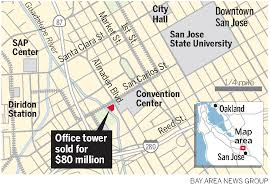 san jose state map amid plans downtown san jose tower gets record price