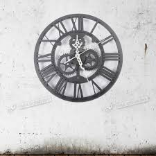 30cm modern home decor wall clock round vintage steampunk skeleton