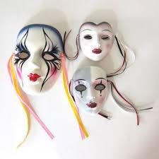 ceramic mardi gras masks for sale shop vintage mardi gras masks on wanelo