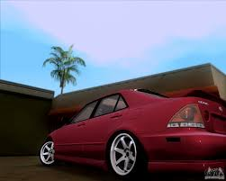 lexus is300 red lexus is300 hella flush for gta san andreas