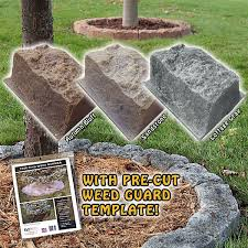 Fake Rocks For Landscaping by Fast U0026 Easy Tree Edging Rings Save On Faux Stone Tree Borders Here