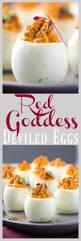red goddess deviled eggs recipe