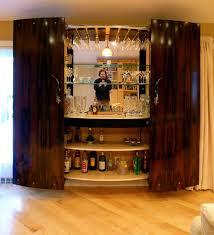 Glass Bar Cabinet Emejing Home Bar Cabinet Designs Photos Decorating Design Ideas