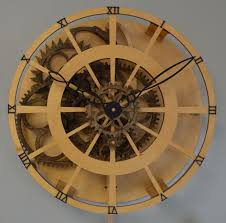 legacy wooden gear clock available as a precut clock kit or diy