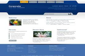html business templates free download with css business corporate blue css template
