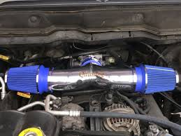 blue dual twin air intake kit filter for 2003 2008 dodge ram 1500