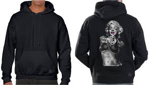 marilyn monroe live fast hoodie sweat shirt back alley wear