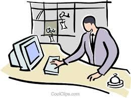 Front Desk Jobs Hiring by Hotel Front Desk Royalty Free Vector Clip Art Illustration