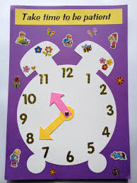 an easy craft using clock template to illustrate a lesson on