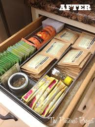 tea drawer tea coffee station the pinterest project organize