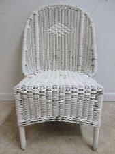 White Wicker Desk wicker white antique furniture ebay
