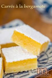 bergamote cuisine carrés au citron bergamote macaronette et cie