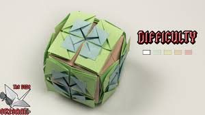 origami tutorial buttonhole flower cube decorations youtube