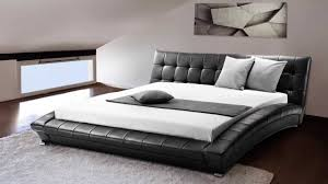 beliani super king size 6 ft leather bed incl stable