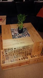Wine Crate Coffee Table Diy by Do It Yourself Coffee Table From Salvaged Wine Crates Wine Crate