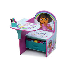 Kids Wooden Desk Chairs Furniture Attractive Dora Themed Purple Kids Desk Design With