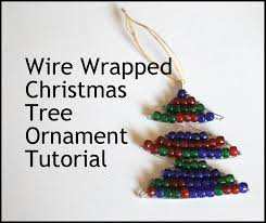 wire wrapped christmas tree ornament tutorial emerging
