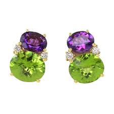 peridot earrings frank pollak and sons amethyst peridot earrings